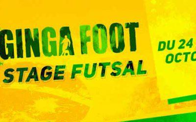 Le complexe GINGA FOOT organise un stages Futsal pendant les vacances de la toussaint.