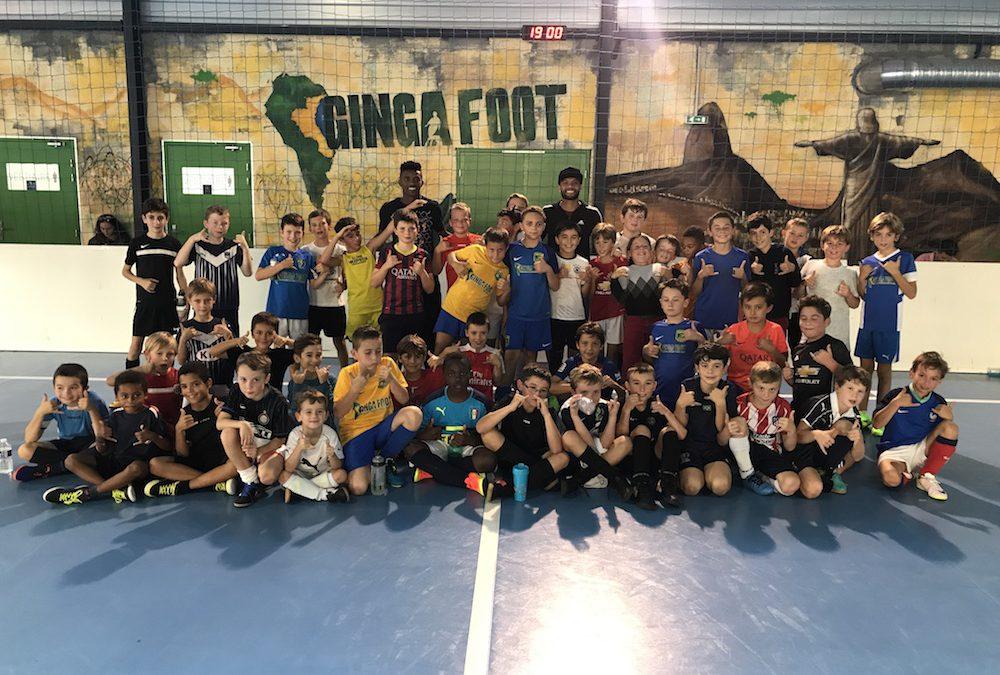 Un grand merci à nos amis brésiliens de FC Girondins de Bordeaux Otavio et Jonatan Cafu pour leur visite surprise aux enfants de notre club Ginga Academia